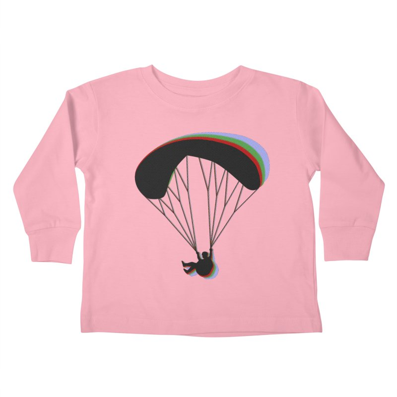 Paragliding RGB Kids Toddler Longsleeve T-Shirt by The Wandering Fools