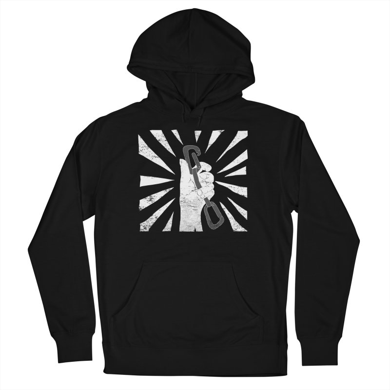 Clip in Women's French Terry Pullover Hoody Black by The Wandering Fools