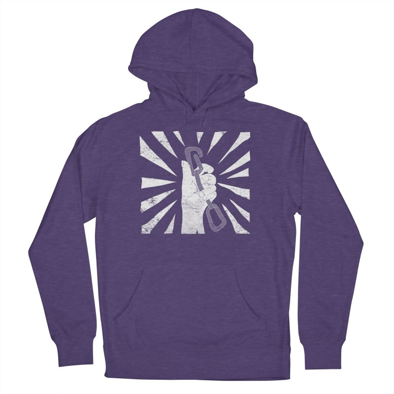 Clip Men's French Terry Pullover Hoody by The Wandering Fools