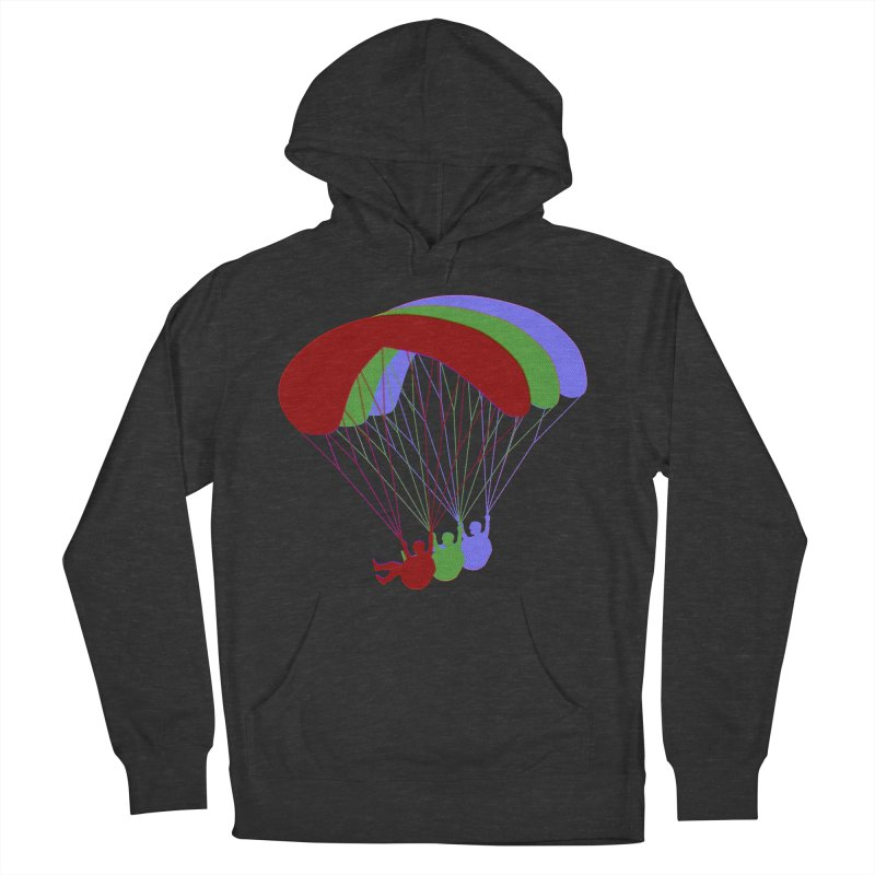 Paragliding RGB Offset Men's French Terry Pullover Hoody by The Wandering Fools