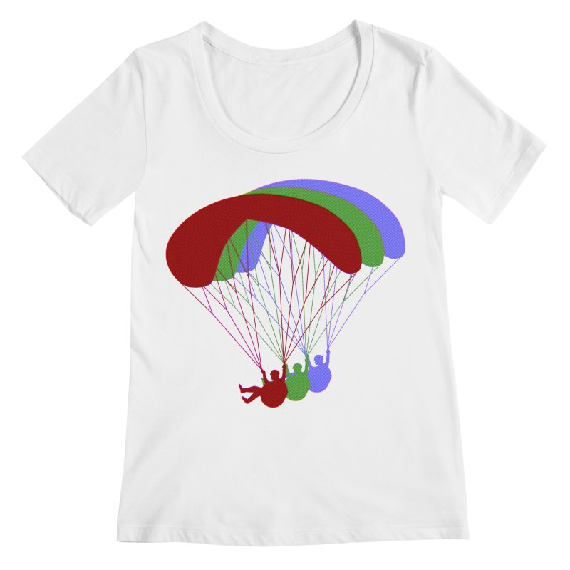 Paragliding RGB Offset Women's Regular Scoop Neck by The Wandering Fools