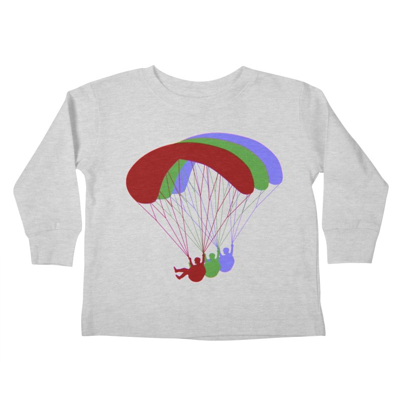 Paragliding RGB Offset Kids Toddler Longsleeve T-Shirt by The Wandering Fools