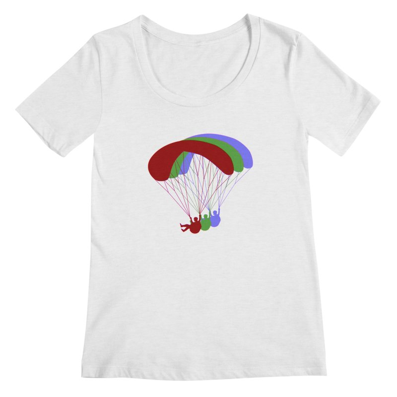 Paragliding RGB Offset Women's Scoop Neck by The Wandering Fools