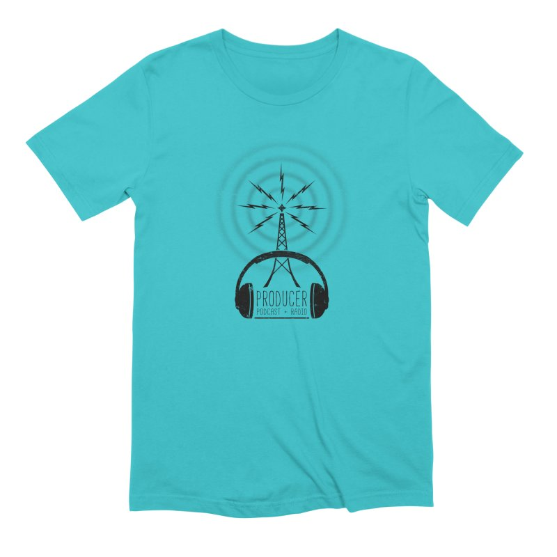 Producer: Podcasts + Radio in Men's Extra Soft T-Shirt Pacific Blue by The Wandering Fools