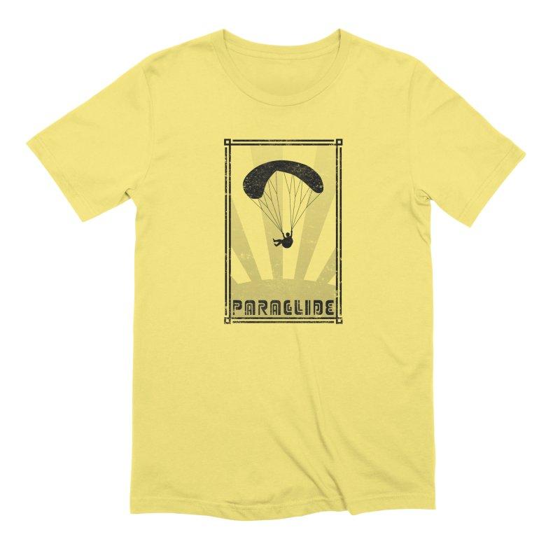 Paraglide Retro Men's T-Shirt by The Wandering Fools Artist Shop