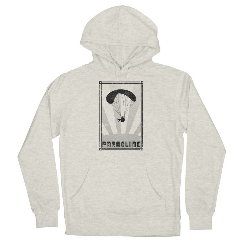 Paraglide Retro in Women's French Terry Pullover Hoody Heather Oatmeal by The Wandering Fools