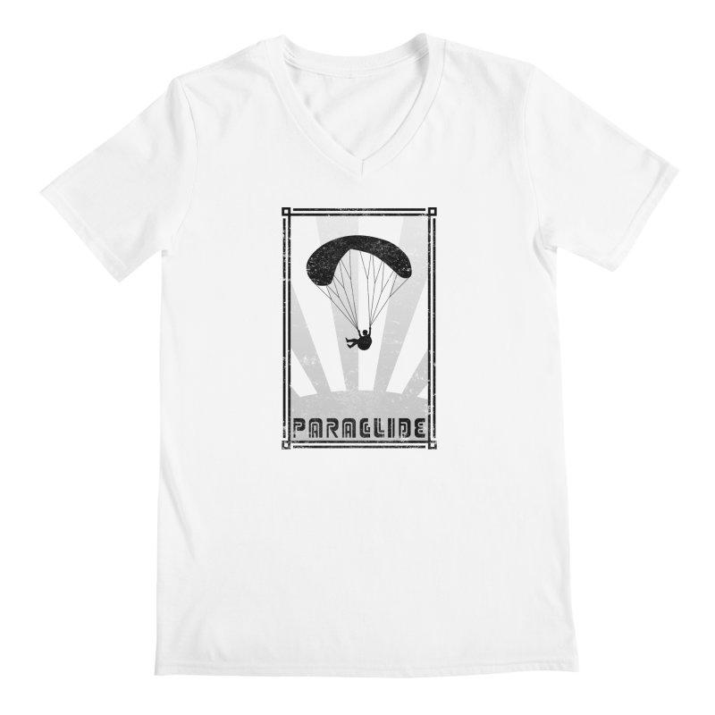 Paraglide Retro Men's V-Neck by The Wandering Fools Artist Shop
