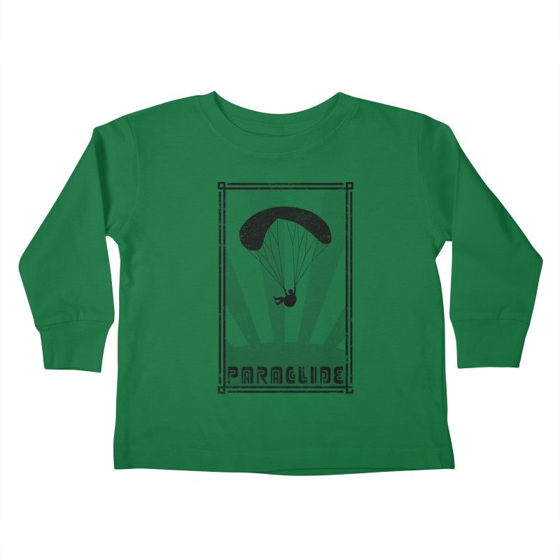 Paraglide Retro Kids Toddler Longsleeve T-Shirt by The Wandering Fools