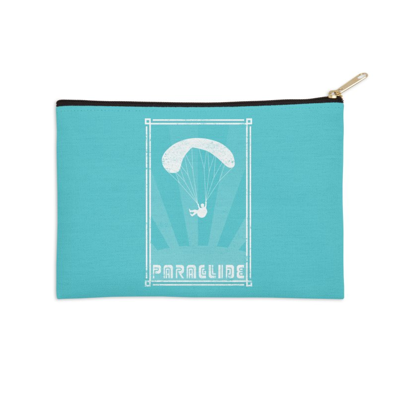 Paraglide Retro Accessories Zip Pouch by The Wandering Fools
