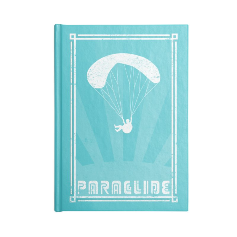 Paraglide Retro Accessories Blank Journal Notebook by The Wandering Fools