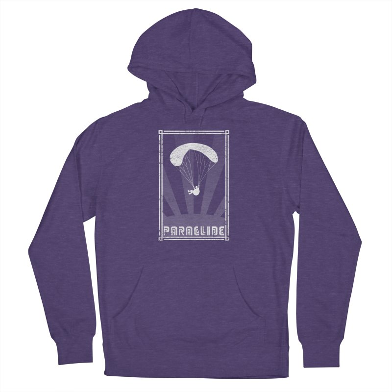 Paraglide Retro Men's French Terry Pullover Hoody by The Wandering Fools