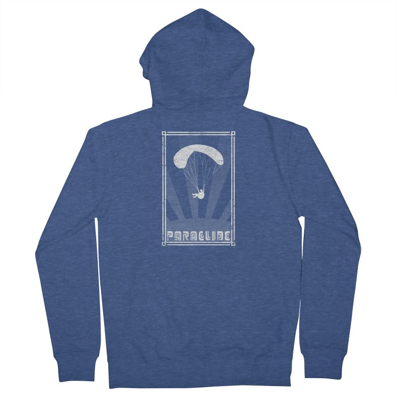 Paraglide Retro Men's French Terry Zip-Up Hoody by The Wandering Fools