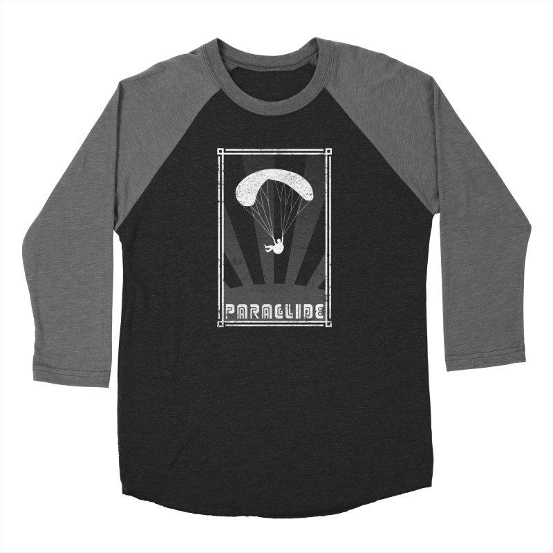 Paraglide Retro Men's Baseball Triblend Longsleeve T-Shirt by The Wandering Fools