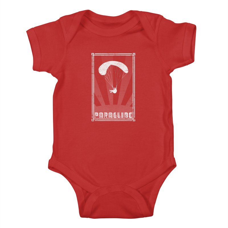 Paraglide Retro Kids Baby Bodysuit by The Wandering Fools