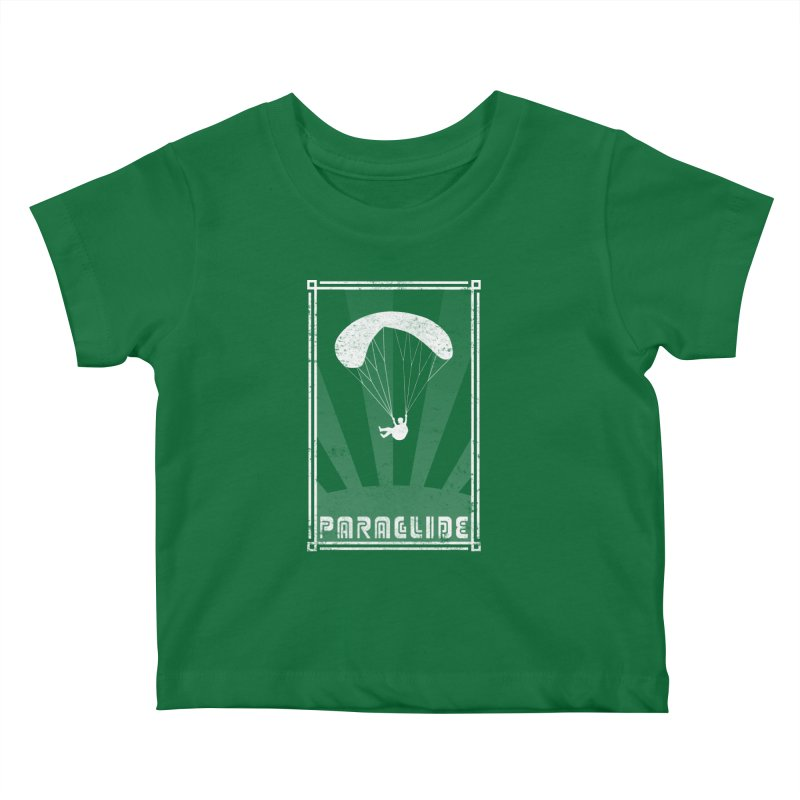 Paraglide Retro Kids Baby T-Shirt by The Wandering Fools