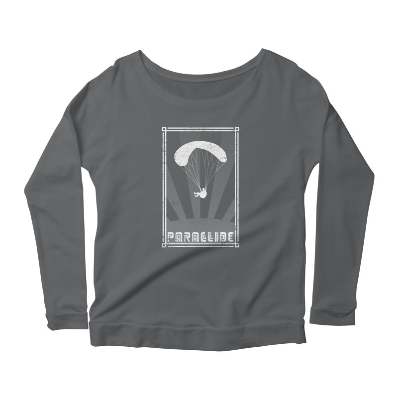 Paraglide Retro Women's Scoop Neck Longsleeve T-Shirt by The Wandering Fools
