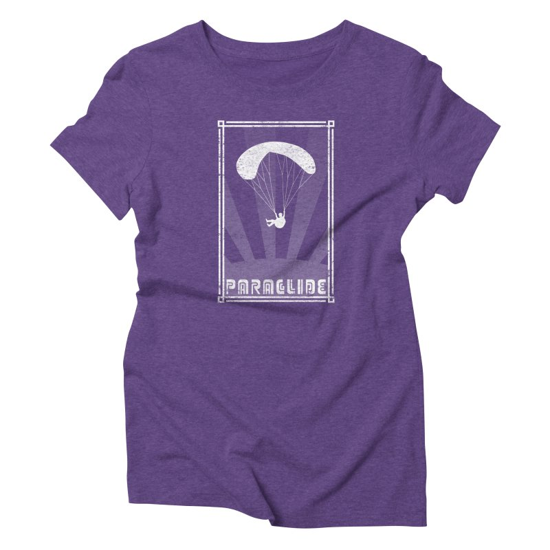 Paraglide Retro Women's Triblend T-Shirt by The Wandering Fools