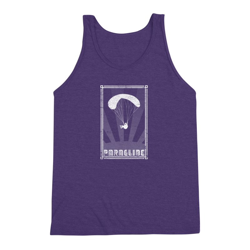 Paraglide Retro Men's Triblend Tank by The Wandering Fools