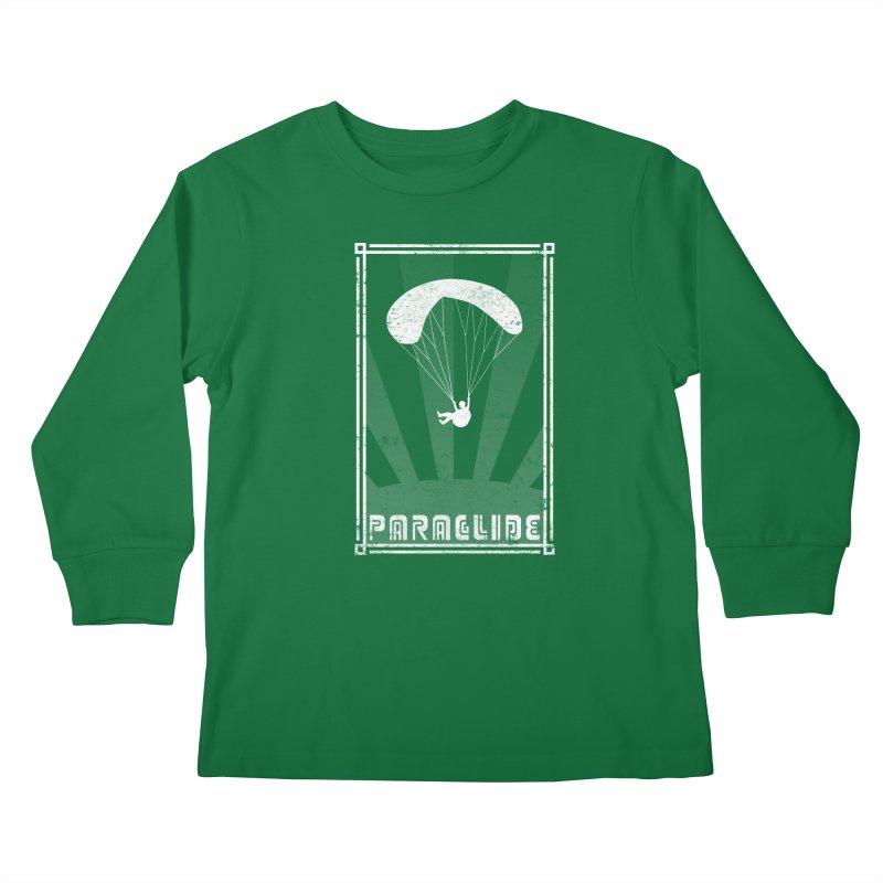 Paraglide Retro Kids Longsleeve T-Shirt by The Wandering Fools