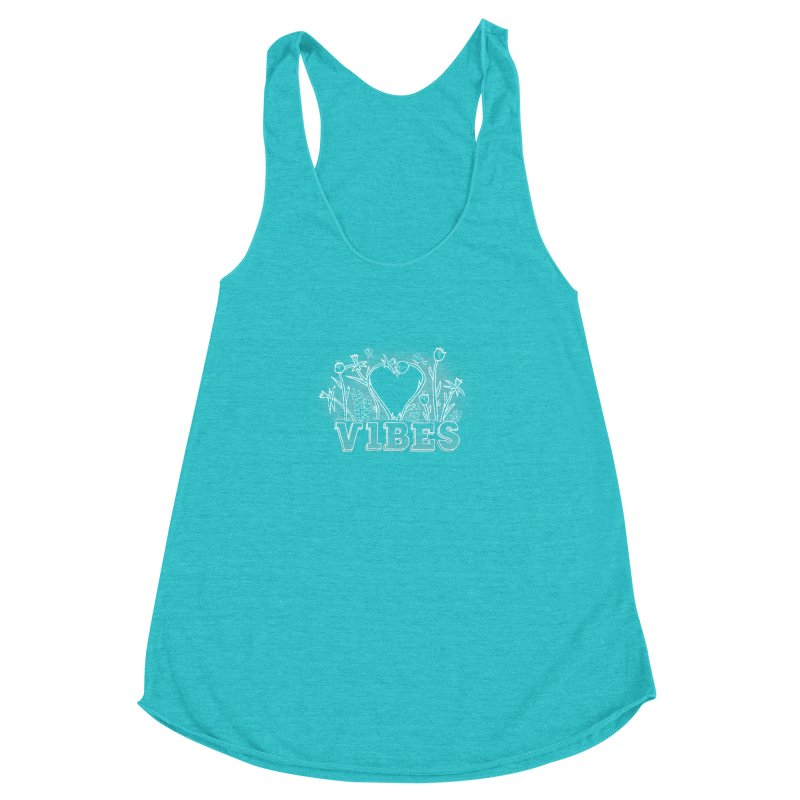 Vibes Women's Racerback Triblend Tank by The Wandering Fools