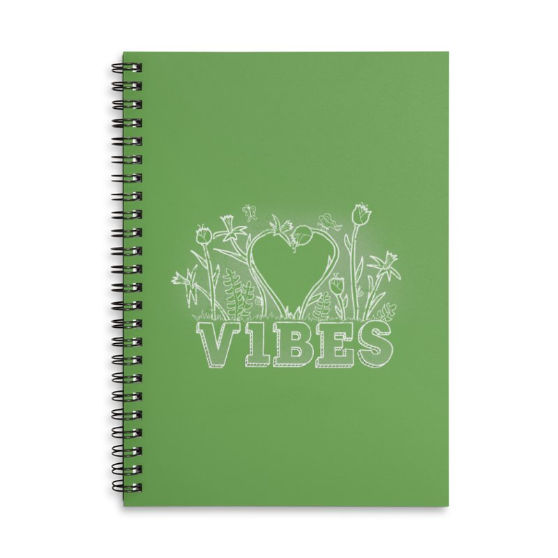 Vibes Accessories Lined Spiral Notebook by The Wandering Fools