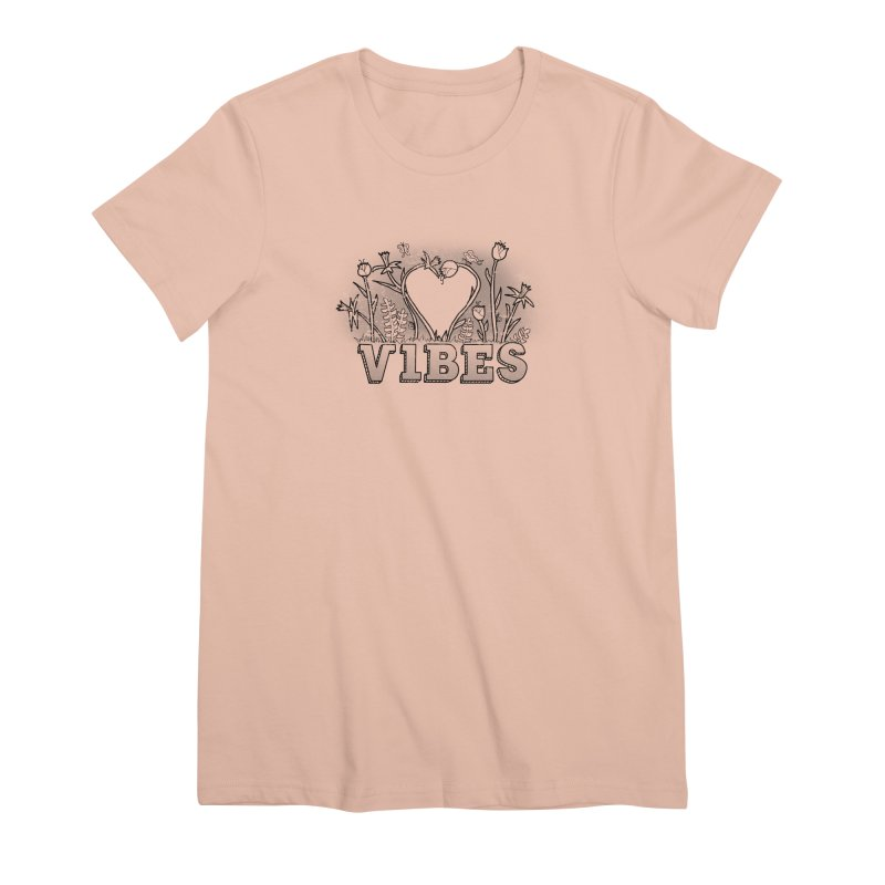 Vibes Women's Premium T-Shirt by The Wandering Fools