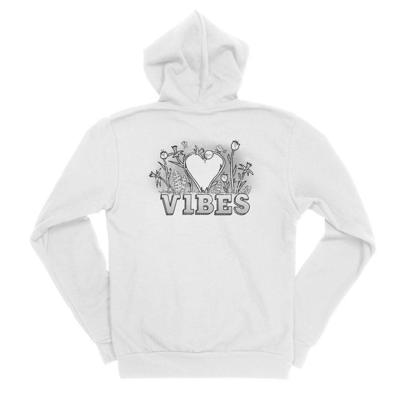 Vibes Men's Sponge Fleece Zip-Up Hoody by The Wandering Fools