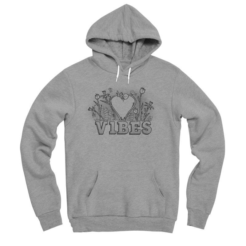 Vibes Men's Sponge Fleece Pullover Hoody by The Wandering Fools