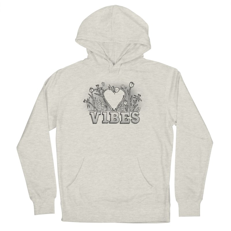 Vibes Men's French Terry Pullover Hoody by The Wandering Fools