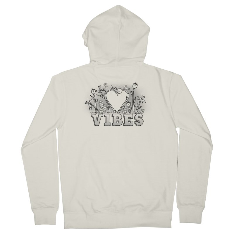 Vibes Women's French Terry Zip-Up Hoody by The Wandering Fools