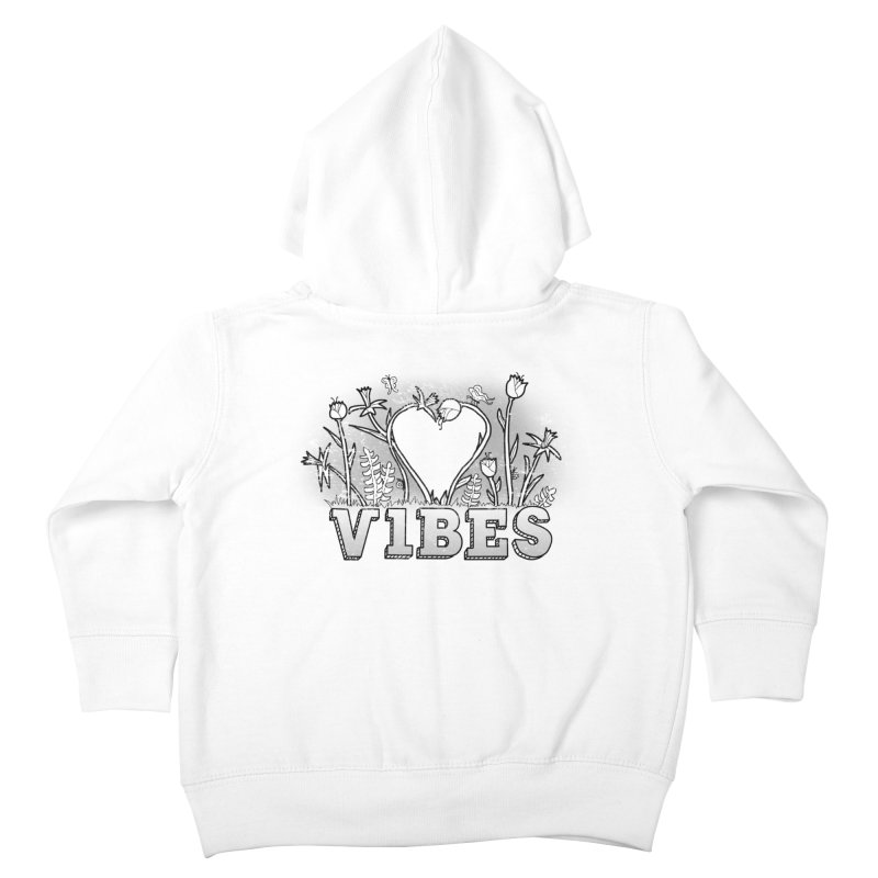 Vibes Kids Toddler Zip-Up Hoody by The Wandering Fools