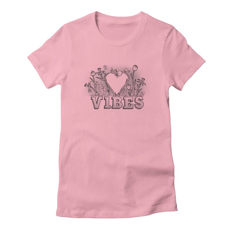 Vibes Women's Fitted T-Shirt by The Wandering Fools