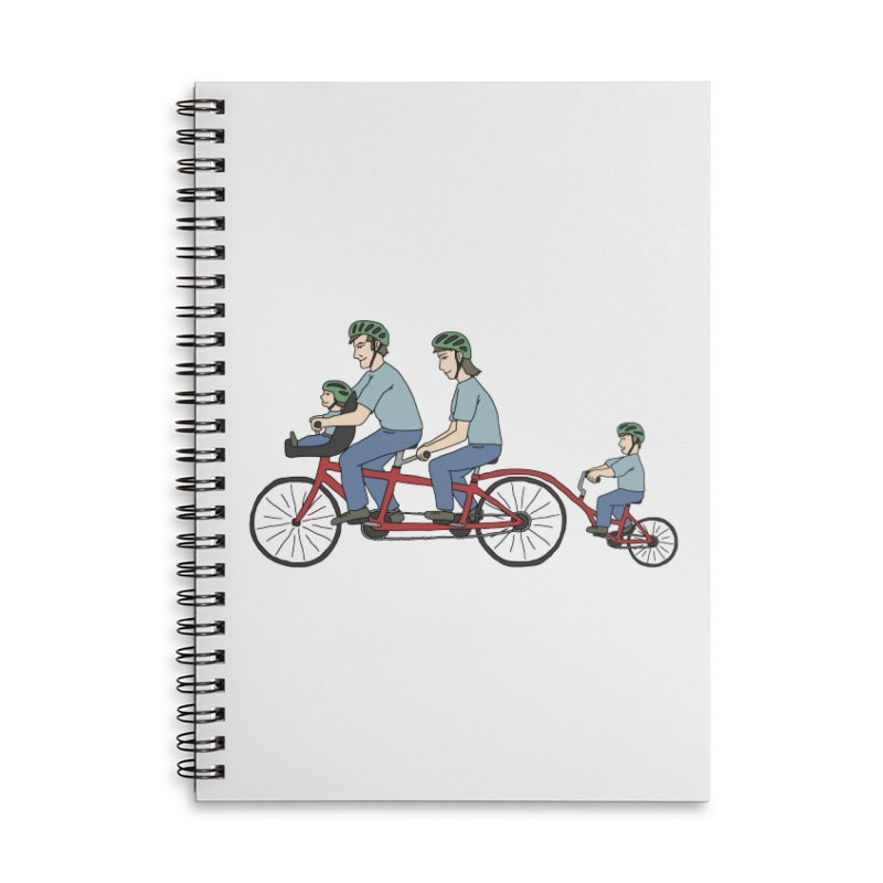 Quad Bicycle Accessories Lined Spiral Notebook by The Wandering Fools