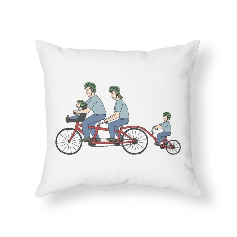 Quad Bicycle Home Throw Pillow by The Wandering Fools
