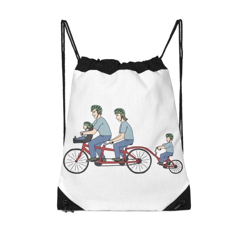 Quad Bicycle Accessories Drawstring Bag Bag by The Wandering Fools