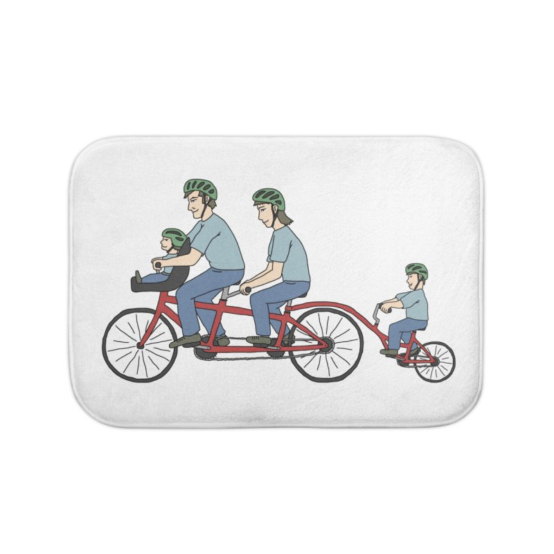 Quad Bicycle Home Bath Mat by The Wandering Fools