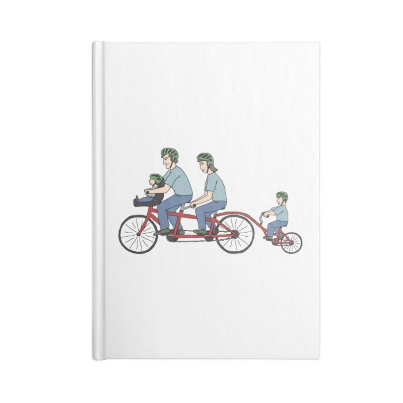 Quad Bicycle Accessories Lined Journal Notebook by The Wandering Fools