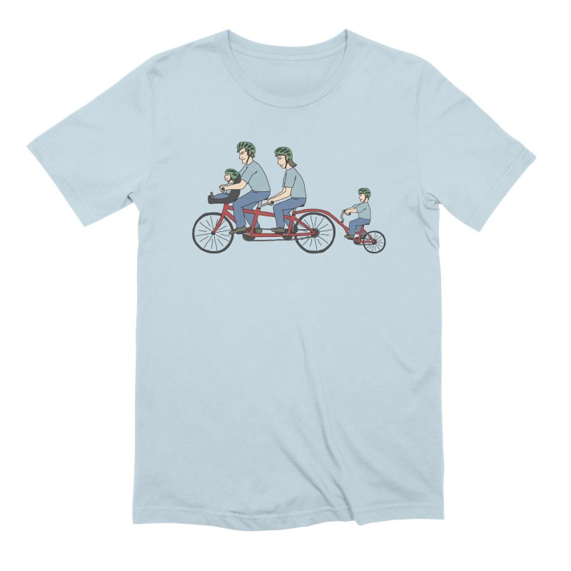 Quad Bicycle in Men's Extra Soft T-Shirt Baby Blue by The Wandering Fools