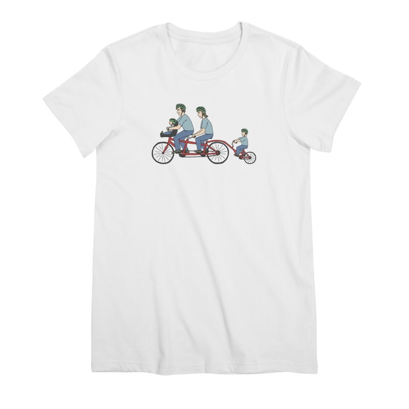 Quad Bicycle Women's Premium T-Shirt by The Wandering Fools