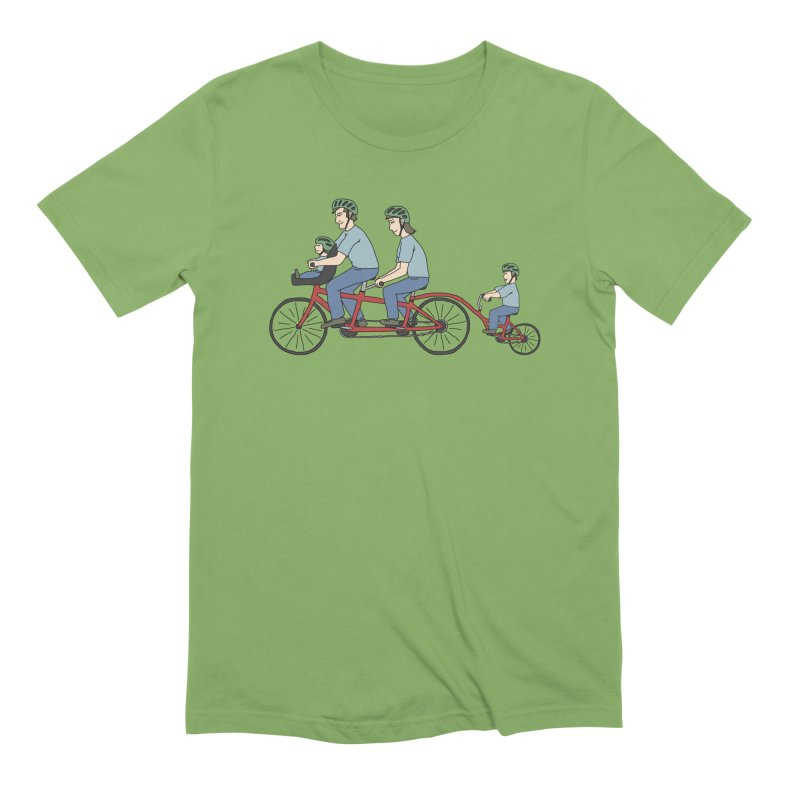 Quad Bicycle Men's Extra Soft T-Shirt by The Wandering Fools
