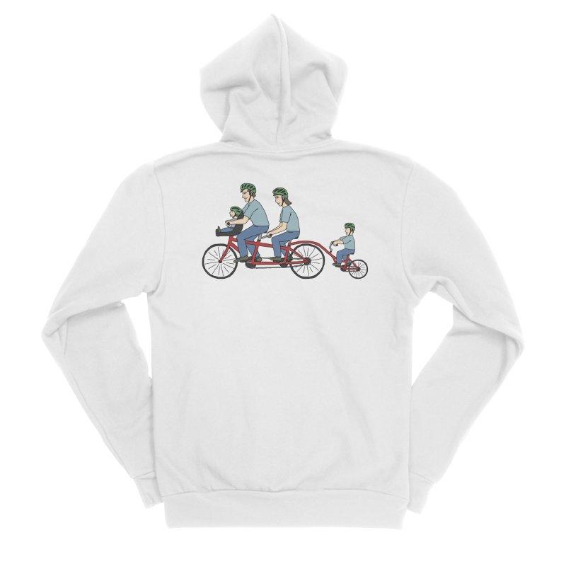Quad Bicycle Women's Sponge Fleece Zip-Up Hoody by The Wandering Fools