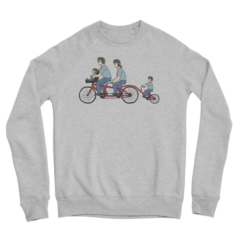 Quad Bicycle Men's Sponge Fleece Sweatshirt by The Wandering Fools