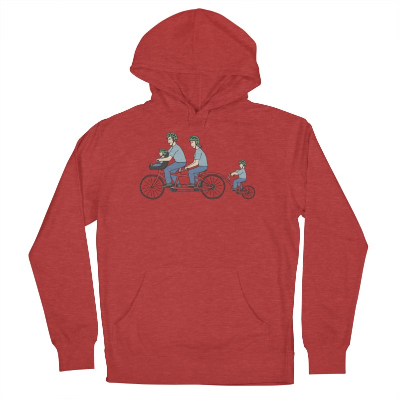 Quad Bicycle Men's French Terry Pullover Hoody by The Wandering Fools