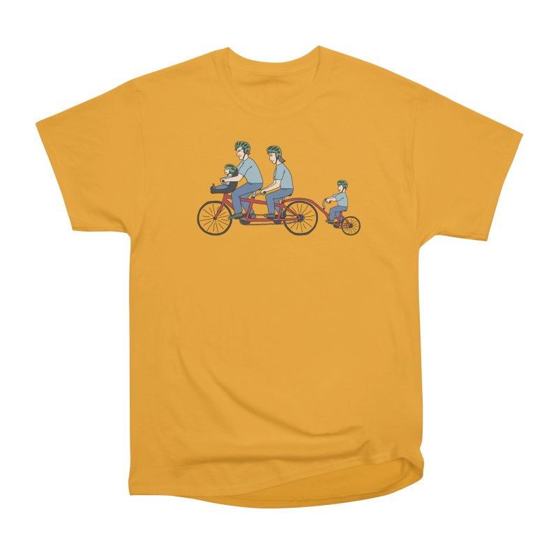 Quad Bicycle Men's Heavyweight T-Shirt by The Wandering Fools