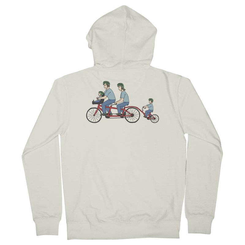 Quad Bicycle Women's French Terry Zip-Up Hoody by The Wandering Fools