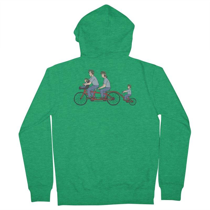 Quad Bicycle Men's Zip-Up Hoody by The Wandering Fools Artist Shop