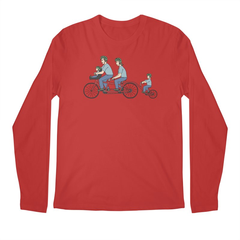 Quad Bicycle Men's Longsleeve T-Shirt by The Wandering Fools Artist Shop