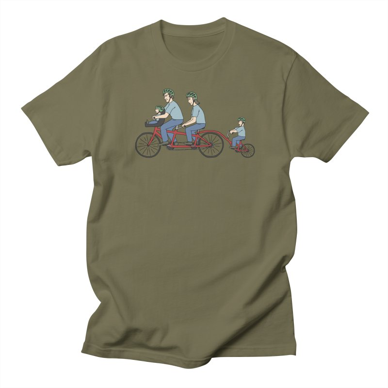 Quad Bicycle Men's Regular T-Shirt by The Wandering Fools