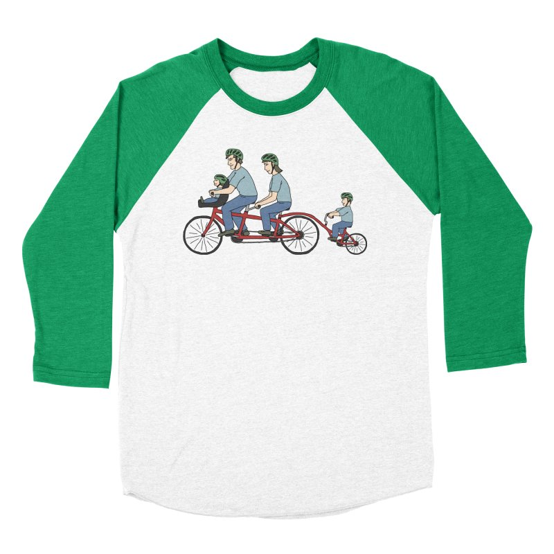 Quad Bicycle Men's Baseball Triblend Longsleeve T-Shirt by The Wandering Fools