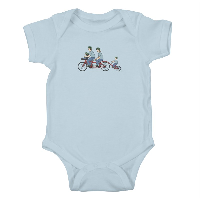 Quad Bicycle Kids Baby Bodysuit by The Wandering Fools